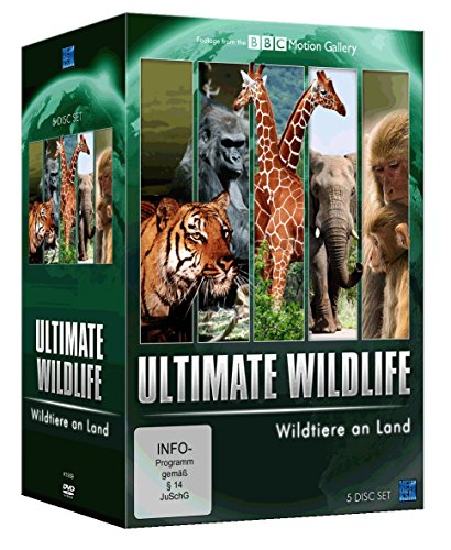BBC Mottion Gallery: Ultimate Wildlife - Wildtiere an Land [5 DVDs]
