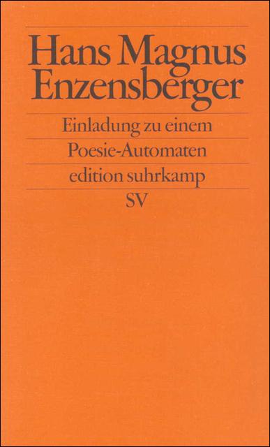 Einladung zu einem Poesie-Automaten (edition su...