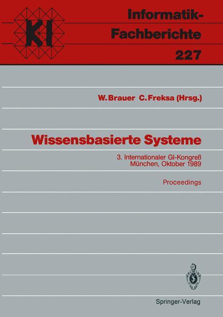 Wissensbasierte Systeme (Informatik-Fachberichte)