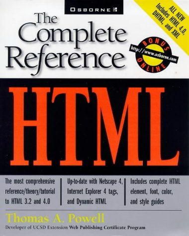 HTML: The Complete Reference (Complete Referenc...