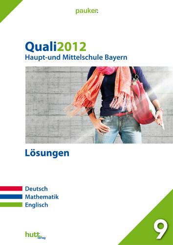 Pauker. Die Lernhilfen: Quali 2012 Haupt- und M...
