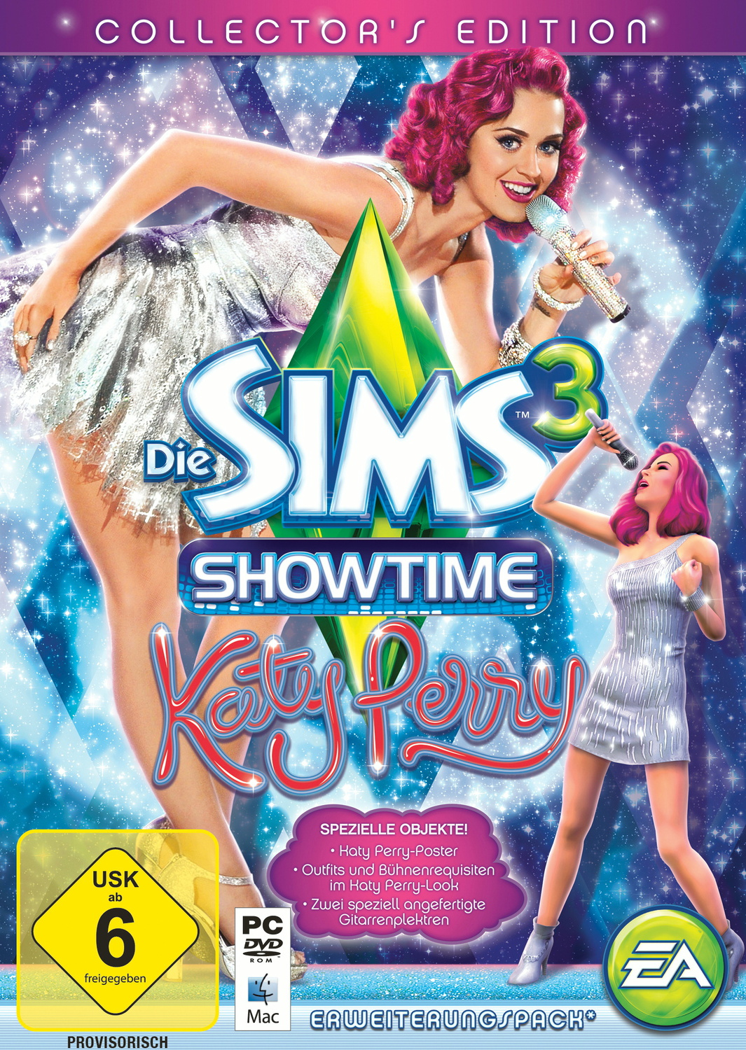 Die Sims 3: Showtime - Katy Perry [Collector´s Edition inkl. 2 Gitarren-Plektren und Katy Perry-Poster, AddOn]