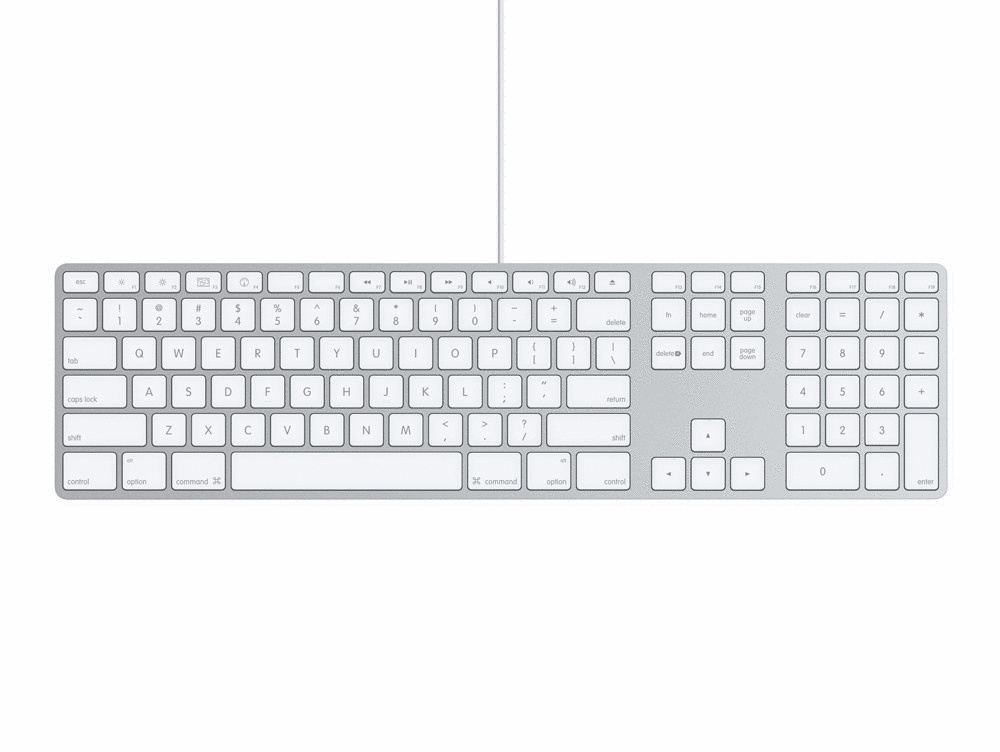 Apple Keyboard [englisches Tastaturlayout, QWERTY]