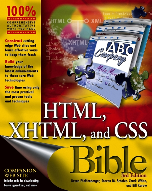 HTML, XHTML, and CSS Bible (Bible (Wiley)) - Bi...