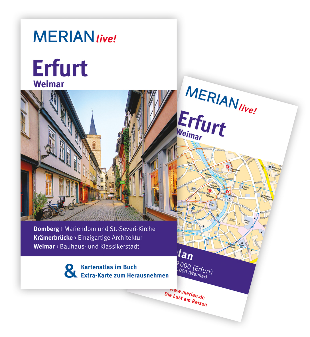 Erfurt Weimar: MERIAN live! - Mit Kartenatlas i...