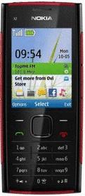 Nokia X2-00 schwarz rot