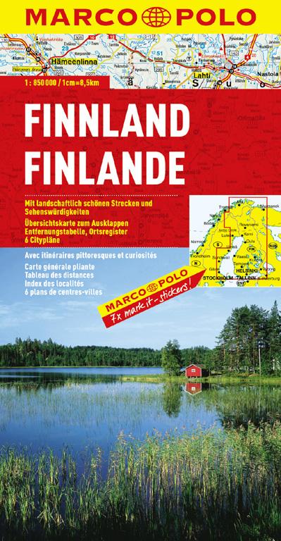 MARCO POLO Länderkarte Finnland 1:850.000 - Mairdumont