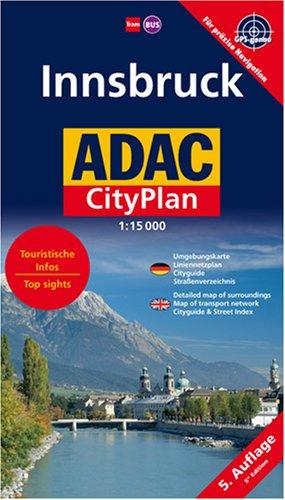 ADAC Cityplan Innsbruck 1 : 15 000: Umgebungskarte, Liniennetzplan, Cityguide, Straßenverzeichnis