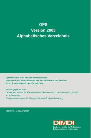 OPS Version 2005, Alphabetisches Verzeichnis