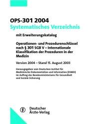 OPS-301 2004, Systematisches Verzeichnis - Bern...