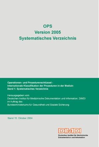 OPS Version 2005, Systematisches Verzeichnis