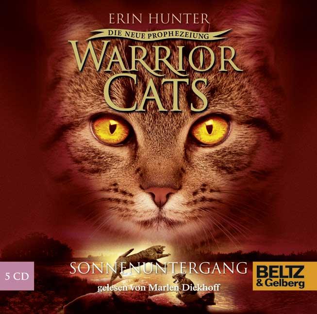 Warrior Cats - Staffel 2: Die neue Prophezeiung - Band 6 - Sonnenuntergang - Erin Hunter [5 Audio CDs]