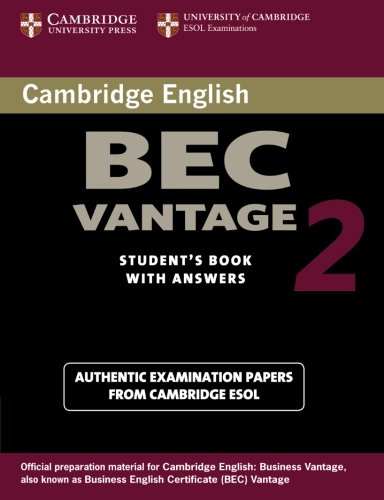 Cambridge BEC Vantage 2 Student´s Book with Ans...