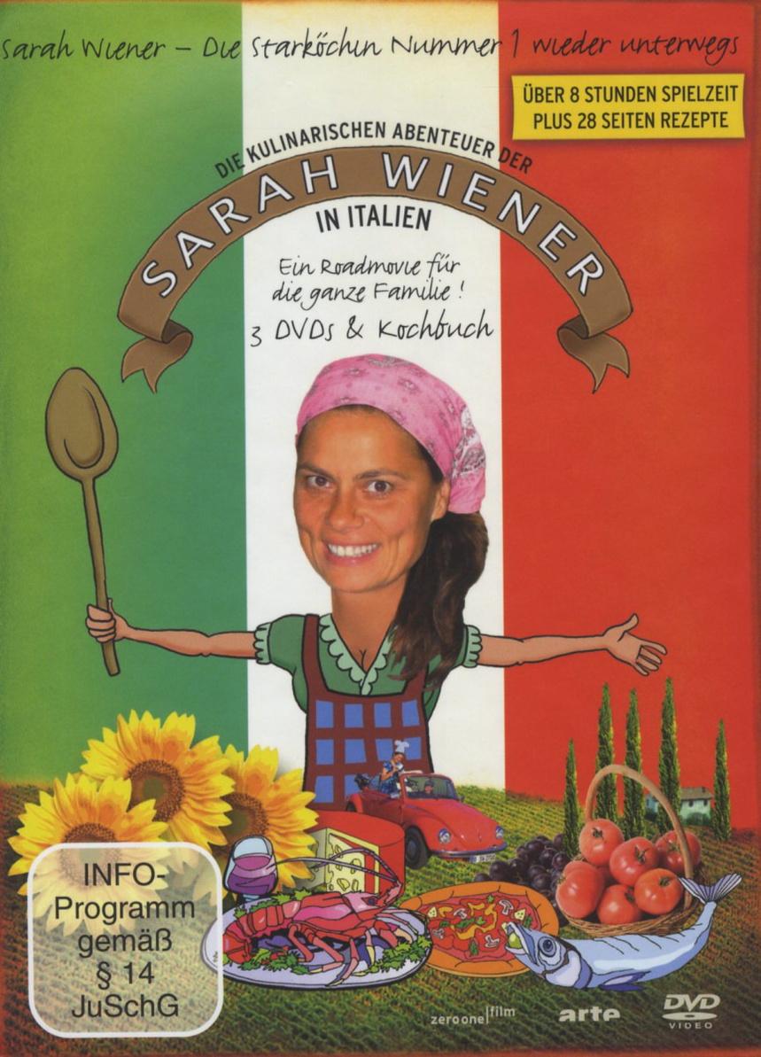 Die kulinarischen Abenteuer der Sarah Wiener in Italien [3 DVDs + Buch]