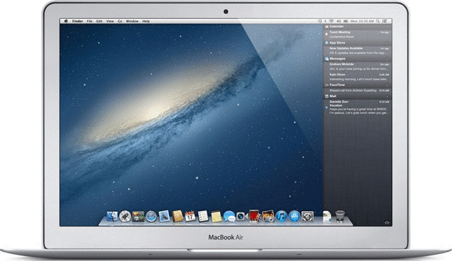 Apple MacBook Air 11.6 (High-Res Glossy) 1.7 GHz Intel Core i5 4 GB RAM 128 GB SSD [Mid 2012]