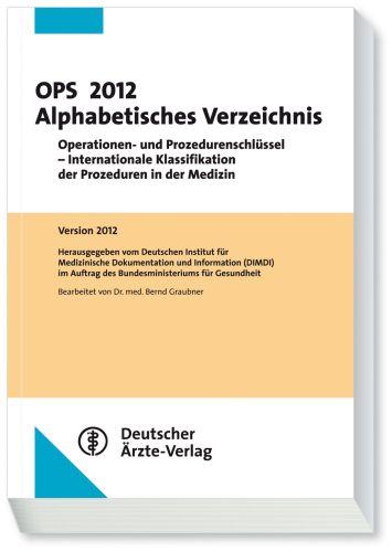 OPS 2012 Alphabetisches Verzeichnis: Operatione...