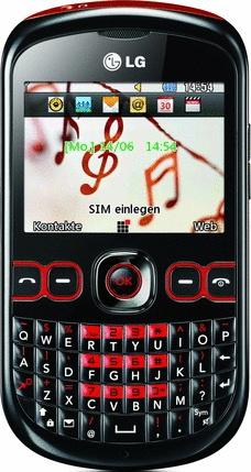 LG C300 Town II schwarz rot