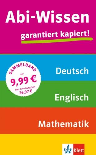 Abi-Wissen Mathematik, Deutsch, Englisch: garan...