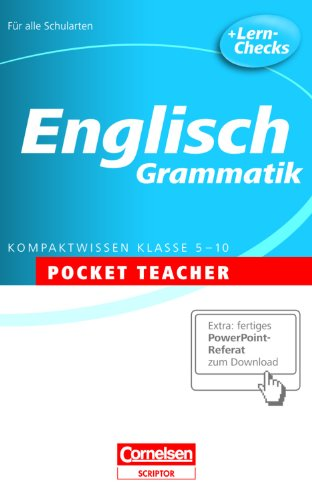 Englisch. Sekundarstufe I . Grammatik: Kompaktwissen Klasse 5-10 - David Clarke
