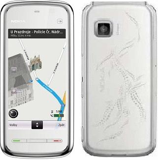 Nokia 5230 white chrome