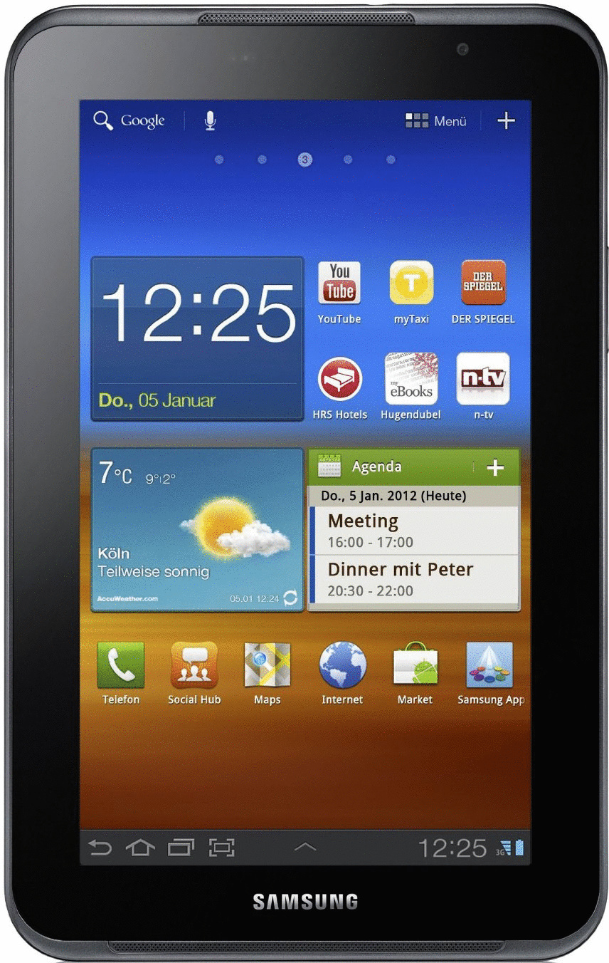 Samsung Galaxy Tab 7.0 Plus N 7 16GB [Wifi + 3G] grijs