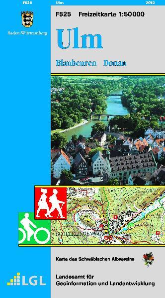 LGL BW 50 000 Freizeit Ulm: Blaubeuren, Donau. ...