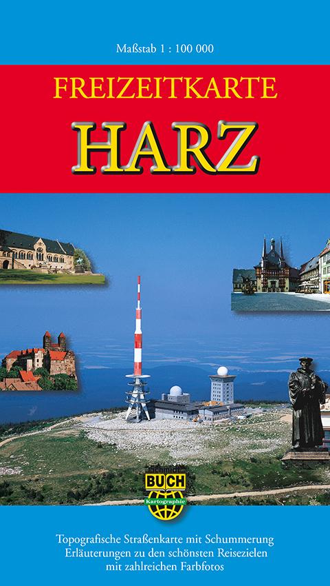Freizeitkarte Harz 1: 100 000: Topografische St...