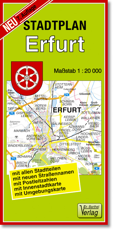 Stadtplan Erfurt 1 : 20 000: mit allen Stadttei...