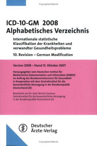 ICD-10-GM 2008 Alphabetisches Verzeichnis - Ber...
