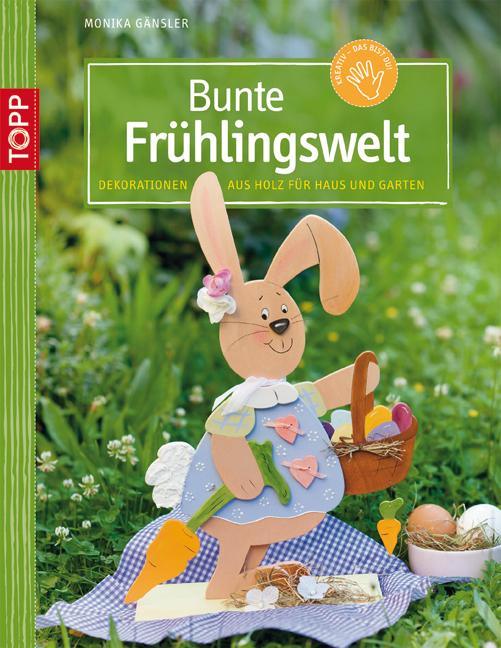 Bunte Frühlingswelt: Dekorationen aus Holz für ...