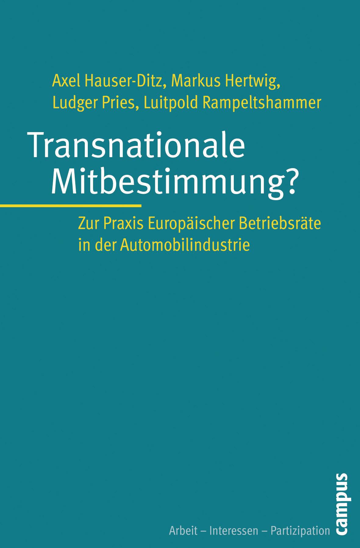 Transnationale Mitbestimmung?: Zur Praxis Europ...