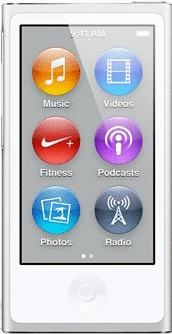 Apple iPod nano 7G 16GB silber