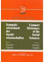 Kompaktwörterbuch der Sozialwissenschaften / Compact Dictionary of the Social Sciences: German-English / English-German - Wolfgang J. Koschnick [Gebundene Ausgabe]