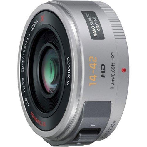 Panasonic Lumix G X Vario PZ 14-42 mm PowerZoom-Objektiv 37 mm Filtergewinde (Panasonic Micro Fourth Thirds Anschluss) silber