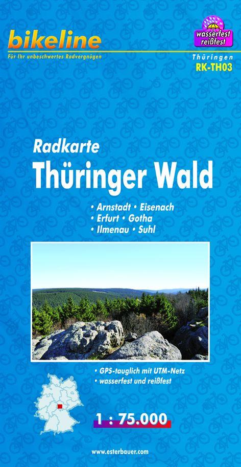 Bikeline Radkarte Thüringer Wald, Arnstadt, Eis...