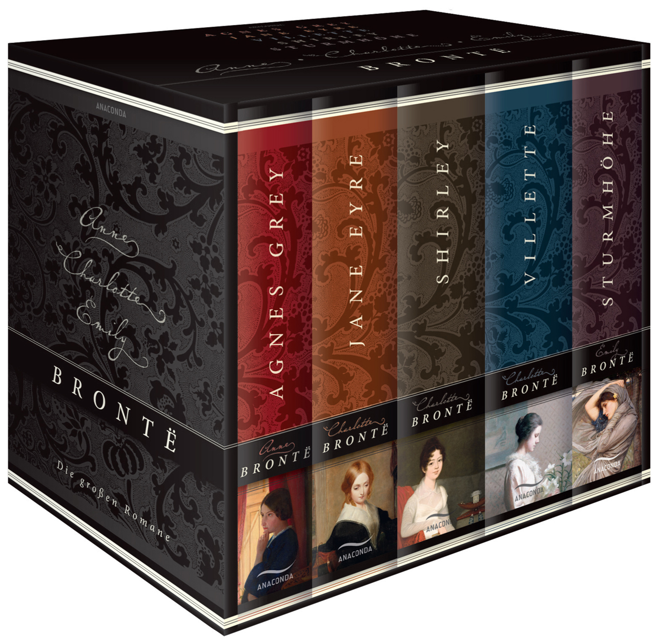 Brontë - Die großen Romane: Agnes Grey / Jane Eyre / Villette / Shirley / Sturmhöhe - Emily Brontë [5 Bände im Schuber]