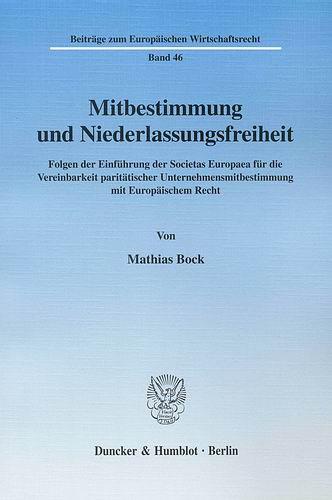 Mitbestimmung und Niederlassungsfreiheit: Folge...