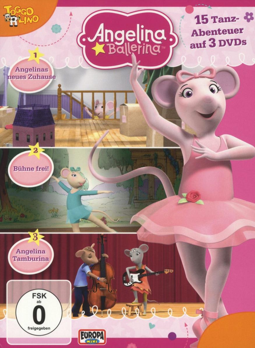 Angelina Ballerina - 15 Tanzabenteuer auf 3 DVDs
