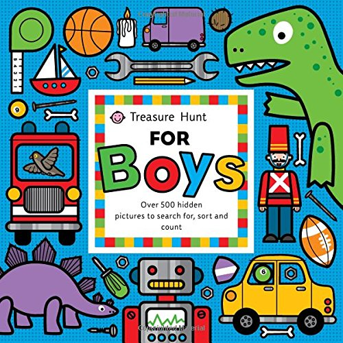 Treasure Hunt for Boys: Over 500 Hidden Pictures to Search For, Sort and Count - Emma Surry