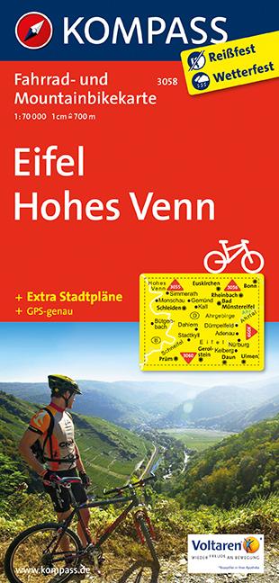 Eifel - Hohes Venn 1 : 70 000: Radkarte. GPS-genau