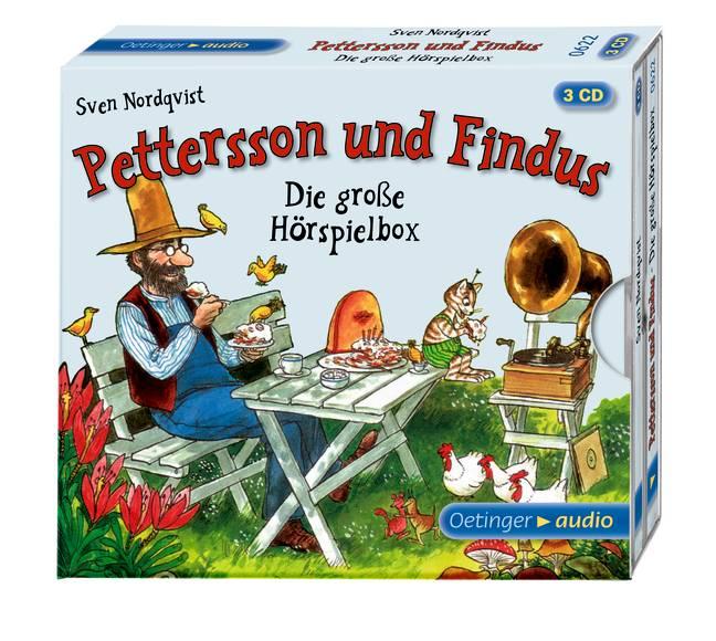 Die große Hörspielbox von Pettersson und Findus (3 CD): 3 Hörspiele - Nordqvist, Sven