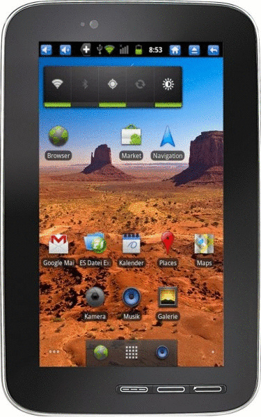 Pearl Touchlet X7G 7 4GB [Wi-Fi] schwarz silber