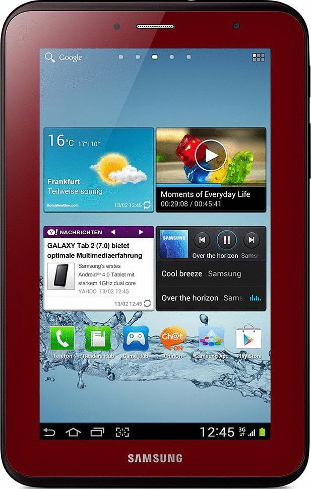 Samsung Galaxy Tab 2 7.0 7 8GB [Wi-Fi + 3G] donkerrood