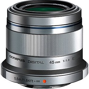 olympus m.zuiko digital 45 mm f1.8 37 mm obiettivo (compatible con micro four thirds) argento
