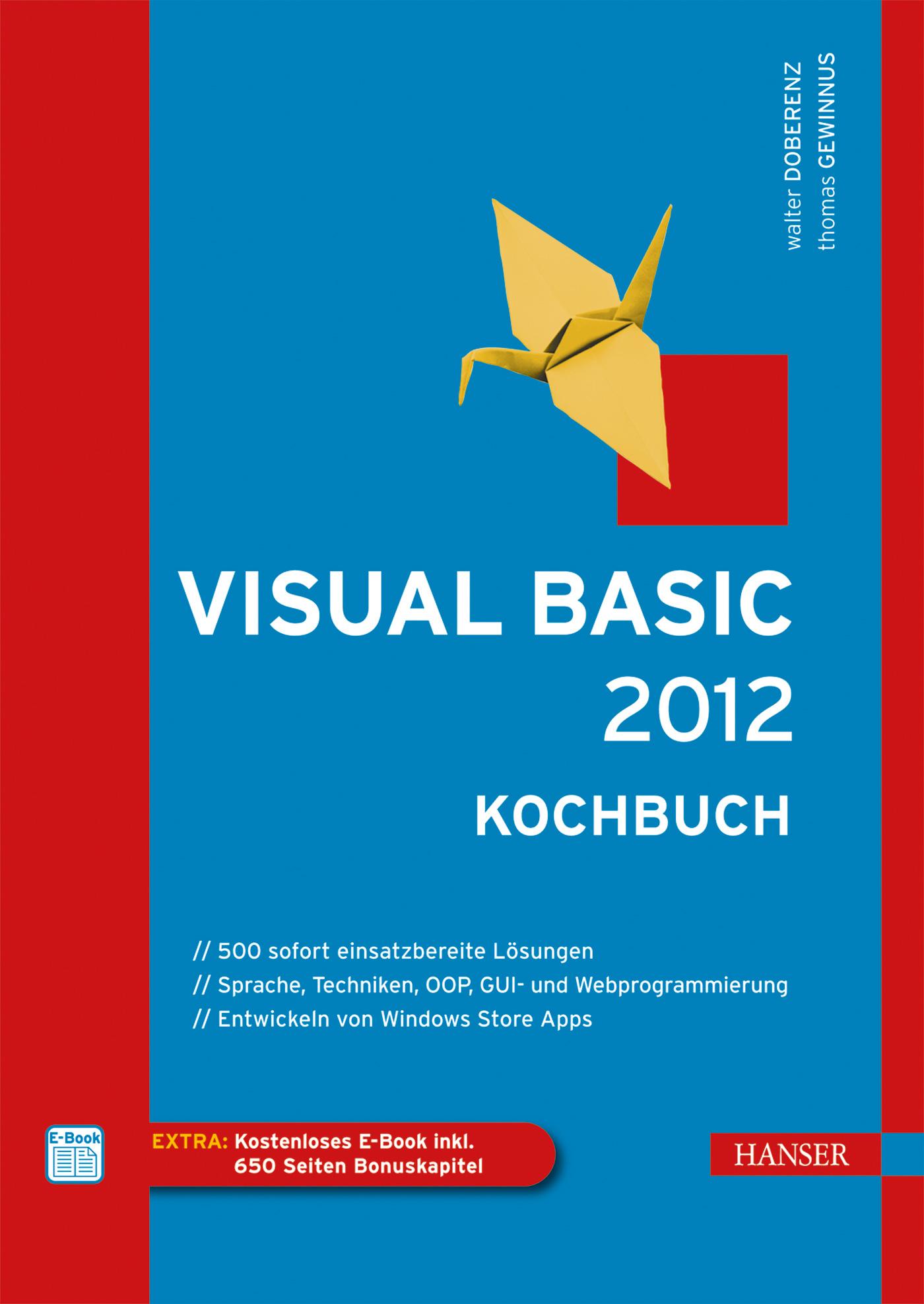 Visual Basic 2012 - Kochbuch - Gewinnus, Thomas