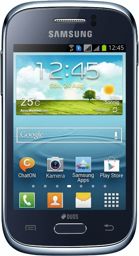 Samsung S6312 Galaxy Young Duos 4GB blauw