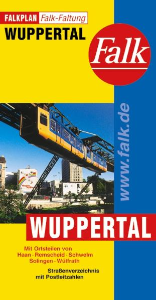 Falkplan Falk-Faltung: Wuppertal - Straßenverze...