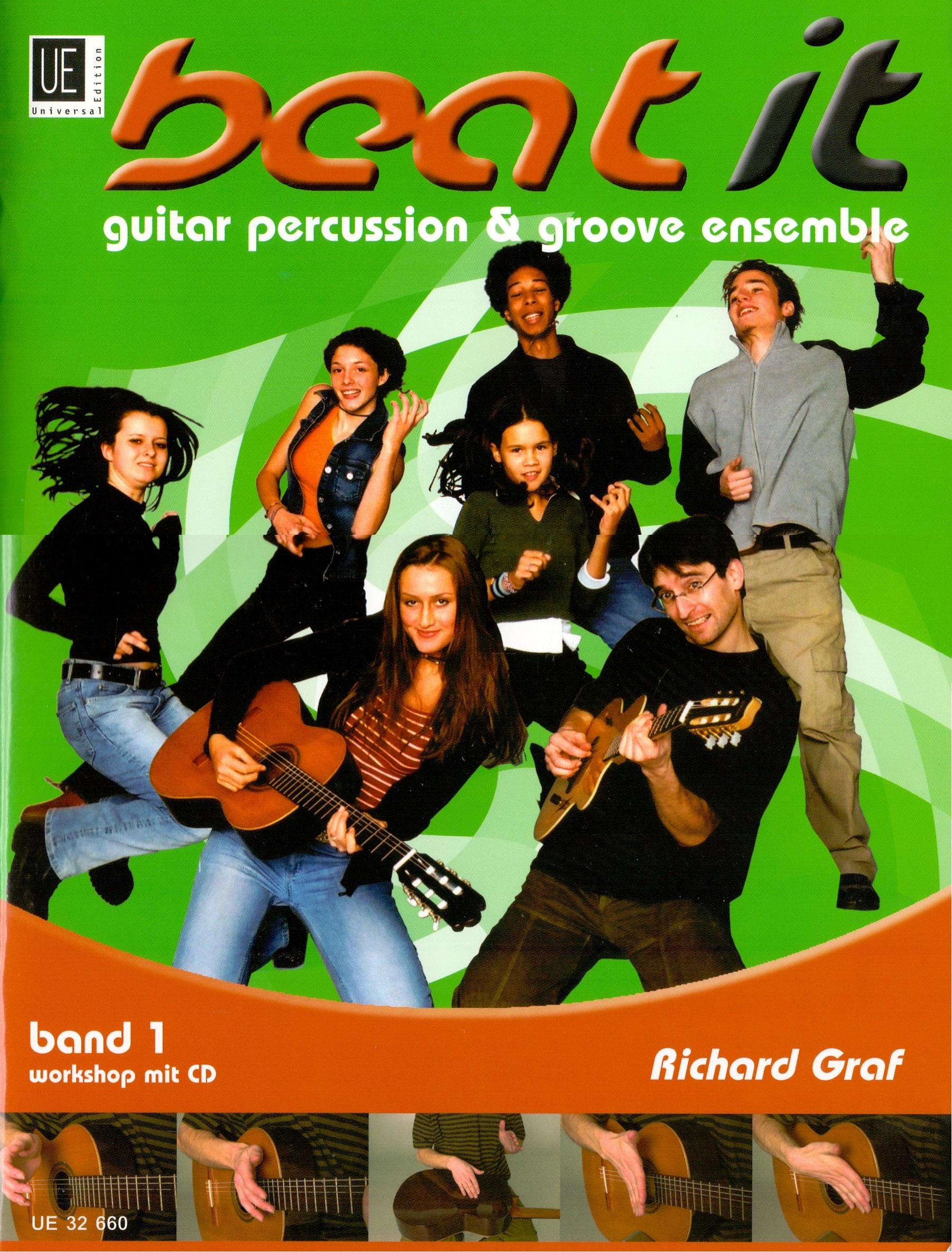 Beat It: Band 1 - Guitar Percussion & Groove Ensemble - Richard Graf [Broschiert, inkl. CD]