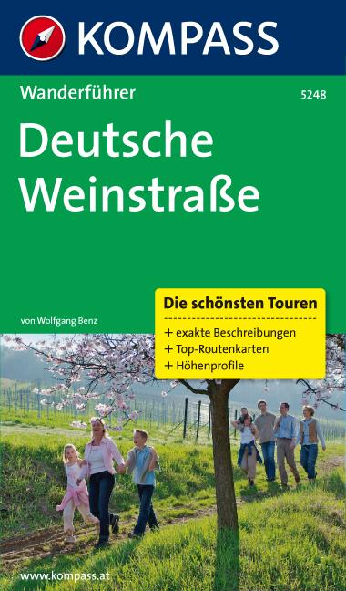 Deutsche Weinstraße: Wanderführer mit Tourenkar...