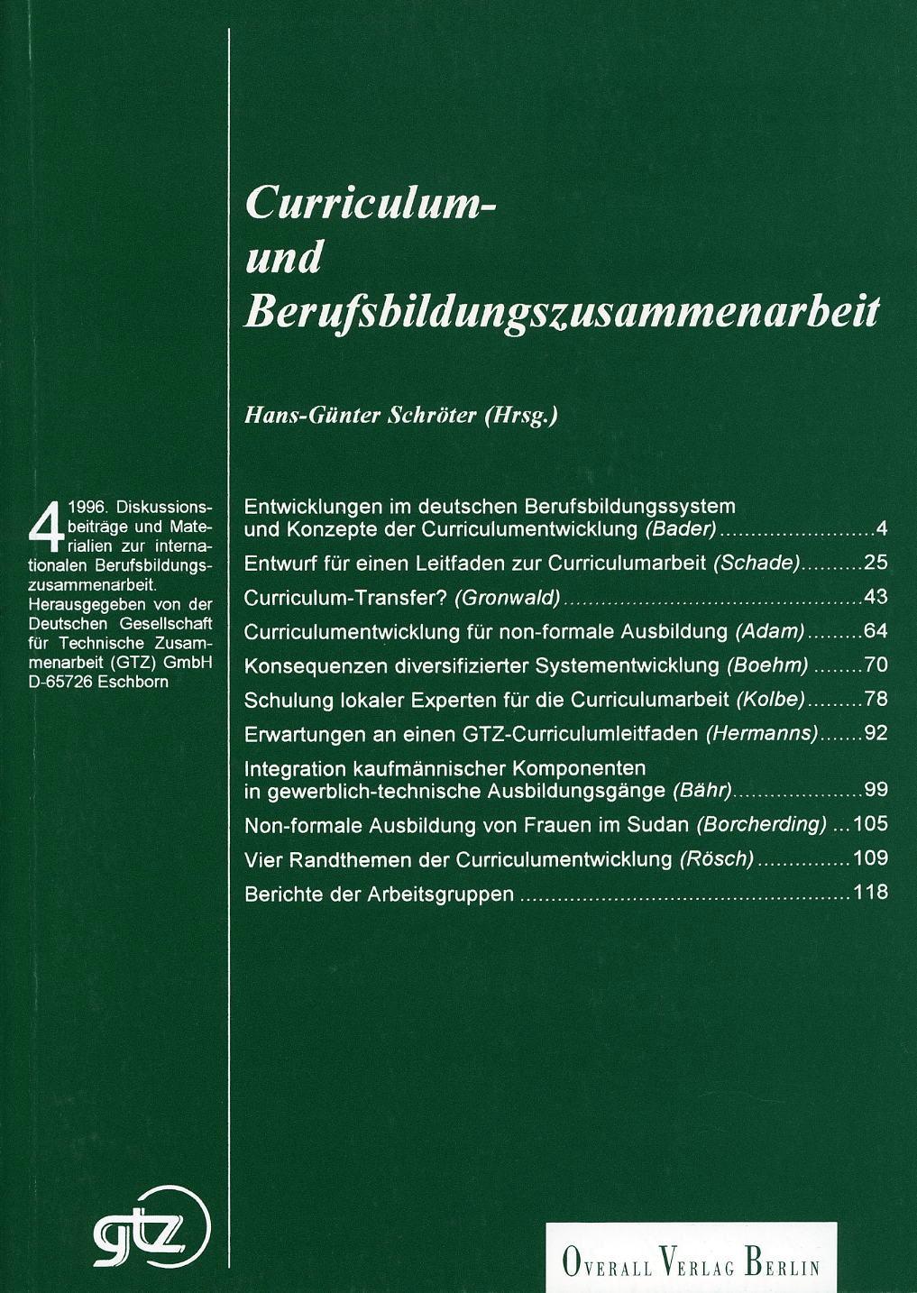 Curriculum- und Berufsbildungszusammenarbeit
